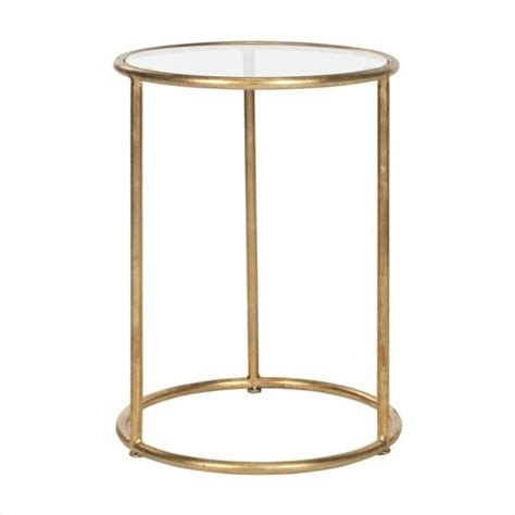 glass accent tables safavieh shay iron and glass accent table in gold fox2523b