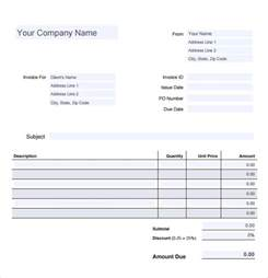 billing invoice template free sle invoice template 15 free in pdf