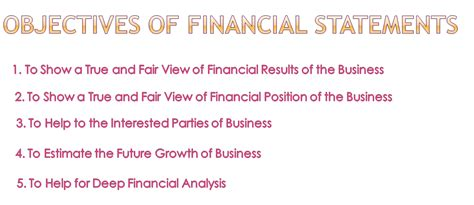 statement of educational objectives objectives of financial statements accounting education