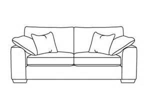sofa drawing calandra extra large sofa from dansk