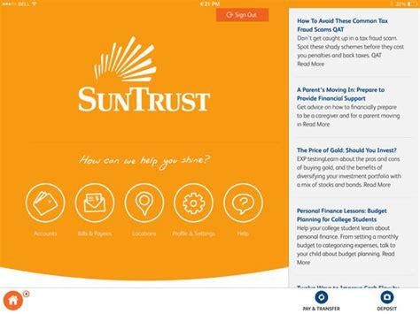 suntrust bank website suntrust tablet app on the app store