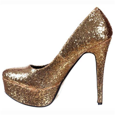 onlineshoe sparkly glitter platform stiletto heels