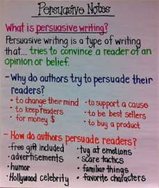 Persuasive Essay 6th Grade by Notes On Persuasive Writing Favething