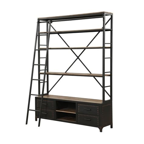 acme furniture actaki etagere gray bookcase with