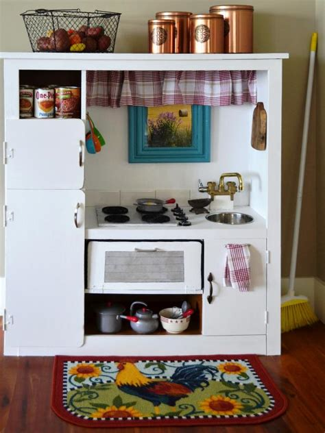 kids kitchen furniture how to turn an old entertainment center into a play kitchen how tos diy