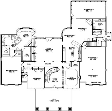 georgian style floor plans georgian style house plans 5022 square foot home 2