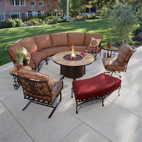 curved patio furniture ow san cristobal curved sectional set with pit table ow sancristobal set7