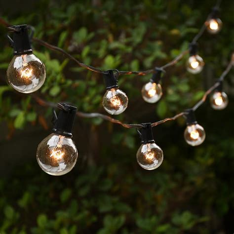 ft globe string lights    bulbs vintage patio