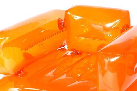 si鑒e gonflable aufblasbarer hocker orange jardinchic