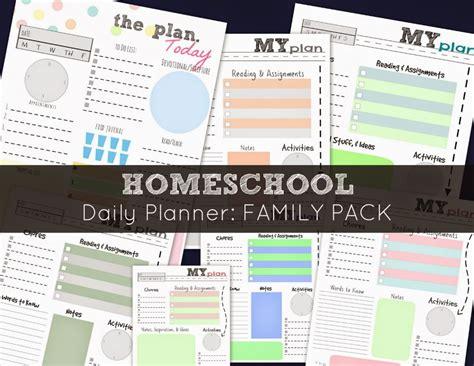 homeschool lesson planner app free homeschool daily planner family pack free