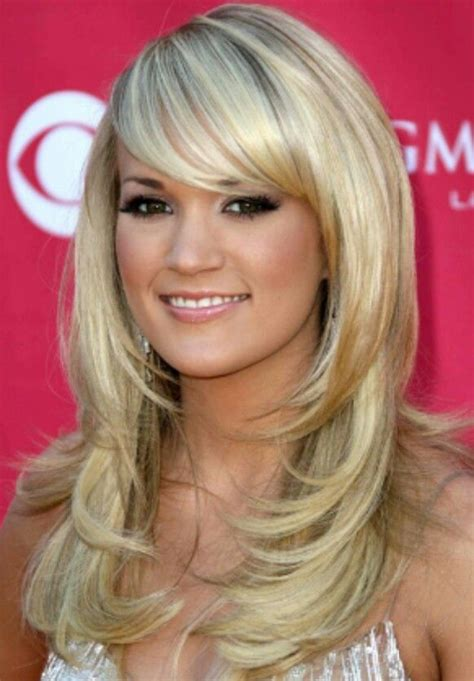 long hairstyles with bangs and frosted front front layers and side bangs hair pinterest bangs and