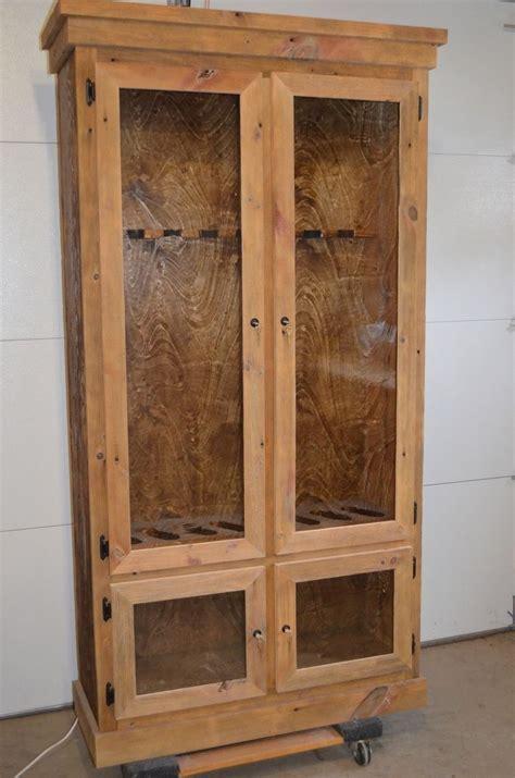 Barnwood Gun Cabinet by Custom Made Reclaimed Barnwood Gun Display Cabinet By