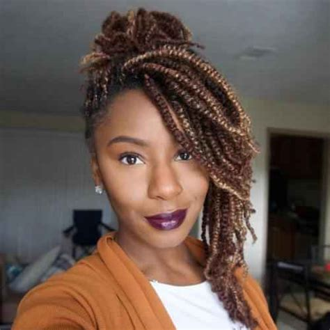 kinky twist buns hairstyle 50 outgoing kinky twists ideas for african american women