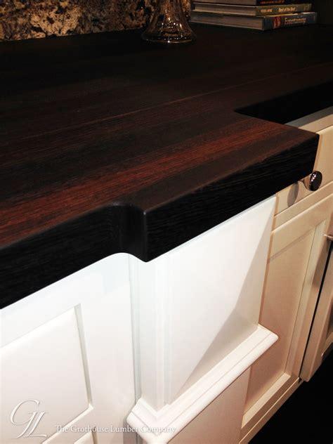 custom wenge wood countertop displayed at kbis 2014