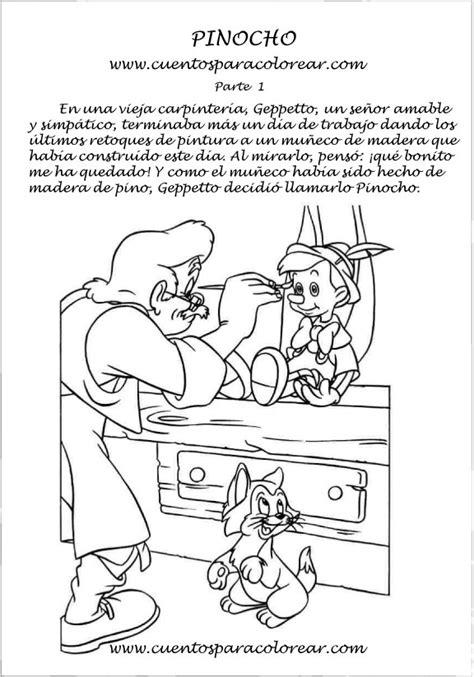 cuentos para nios para imprimir gratis cuento de pinocho para colorear