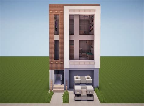 minecraft town houses popreel modern townhouse 3 minecraft project