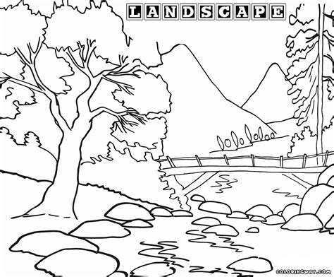 landscape coloring pages landscape coloring pages coloring pages to and