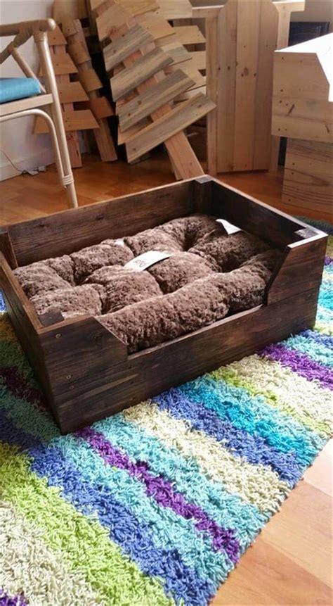 diy pallet pet bed easy to make pallet bed pallet furniture diy