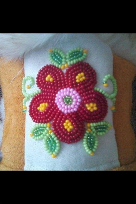 beadwork cree cree flower beadwork for a pair of mukluks things i ve