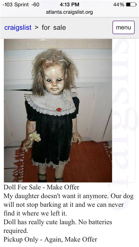 haunted doll craigslist 2016 april 4 doll for sale anomalies the strange