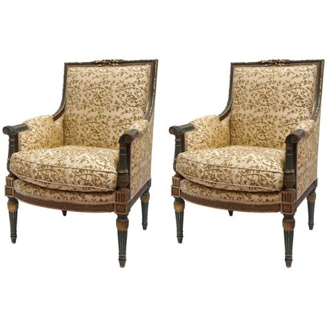 Bergere Chairs For Sale by Pair Of 19th Century Bergere Chairs For Sale At 1stdibs