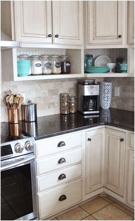 open shelves under cabinets 10 cool and creative diy projects for your kitchen