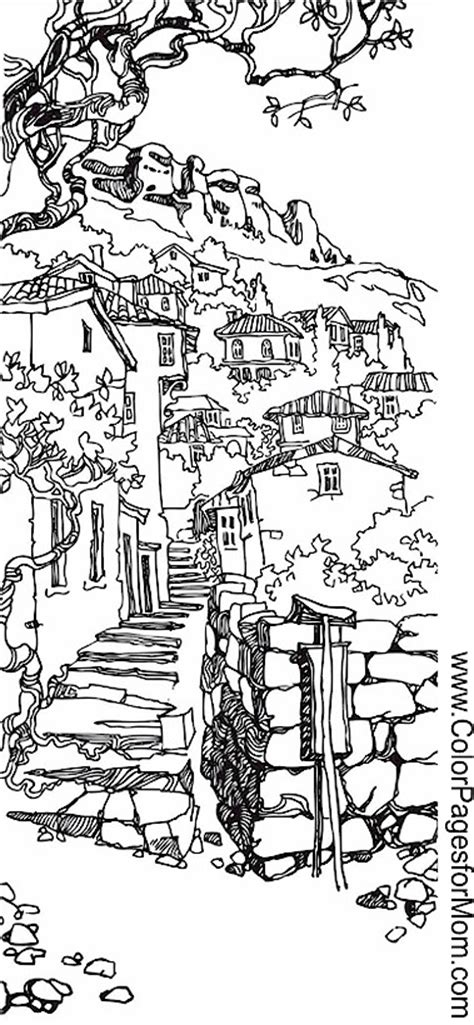coloring books country cottage backyard gardens 2 40 grayscale coloring pages of country cottages cottages gardens flowers and more books landscape coloring page 40