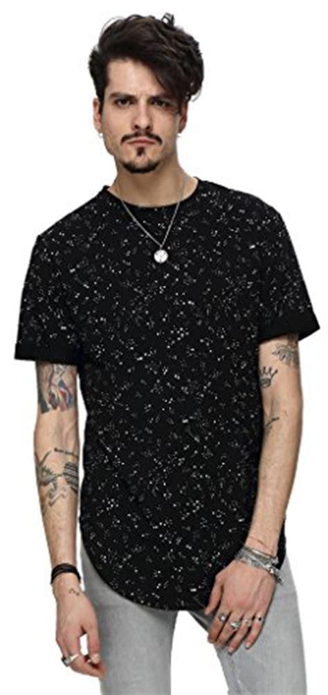 Longline Shirt Fregie Unisex pizoff unisex curved hem longline big drop t shirt