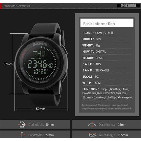 Jam Tangan Pria Skmei Kompas Digital Ori 1289 Water Resist skmei jam tangan kompas digital pria 1289 black jakartanotebook