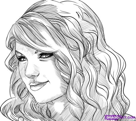 taylor swift coloring pages easy how to draw taylor swift step by step music pop culture