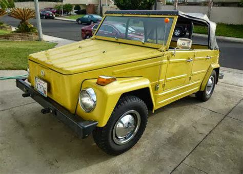 volkswagen thing yellow 1973 vw thing original yellow buy classic volks