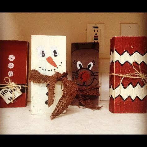 christmas wood block decorations 20 00 via etsy