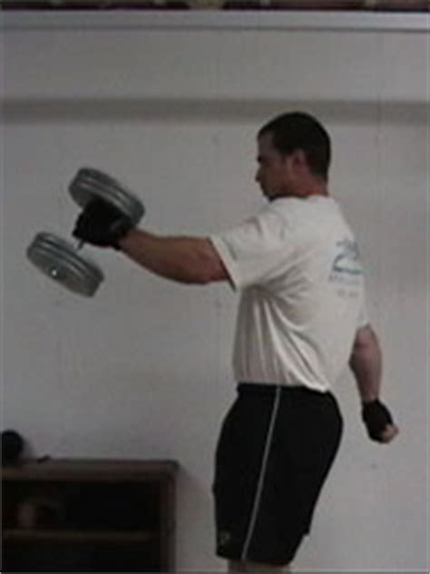 dumbbell arm swings ab exercises 2 dumbbell swings