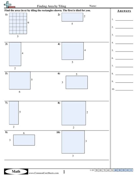 Area Worksheet by Finding The Area Worksheet Boxfirepress