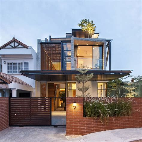 home design ideas singapore clever semi detached house with elongated volumes in