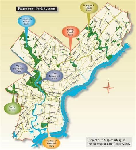fairmount park map fairmount park system map fairmount park mappery