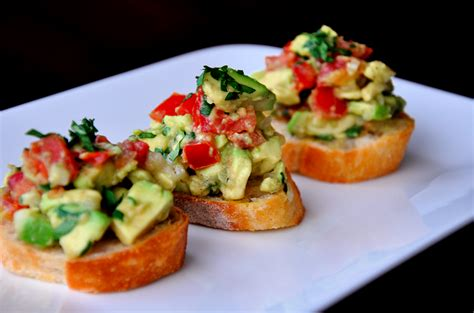 appetizers ideas just a taste guacamole bruschetta