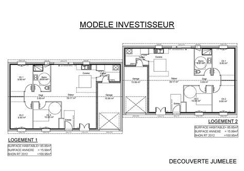 Plan De Maison Plein Pied En U idee plan maison de plein pied