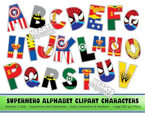 printable superhero quotes superhero alphabet clipart png printable font alphabet