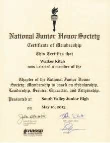 national honor society certificate template kandid memories national junior honor society