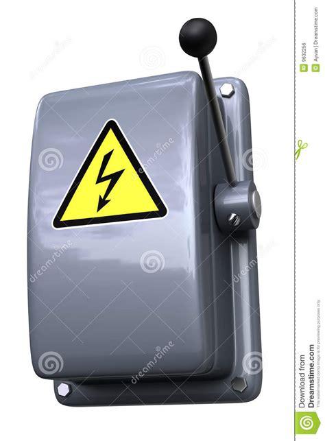 knife switch symbol knife switch with warning stock illustration image of