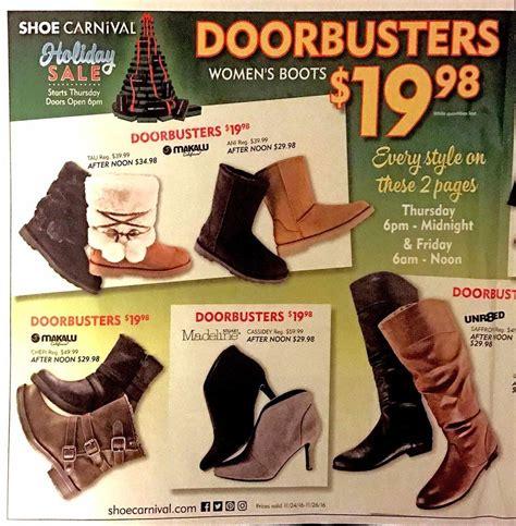 shoe carnival black friday ads sales deals doorbusters