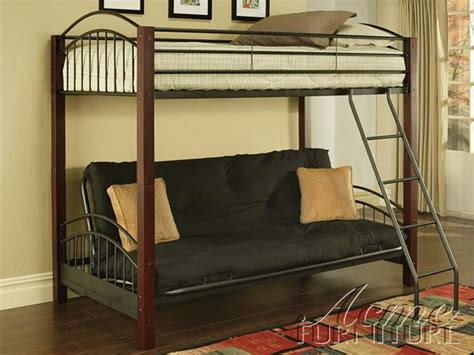 wood bunk bed with futon and desk wooden global