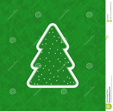 green paper cut out christmas tree stock vector image