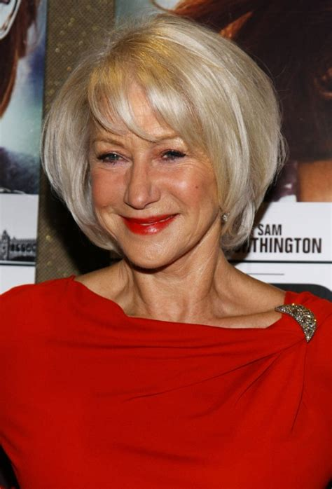 over sixties hair styled helen mirren short bob hairstyle for women over 60s