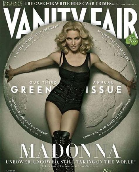 Madonna In Vanity Fair by Madonna To Grace Cover Of Vanity Fair S 2008 Green Issue