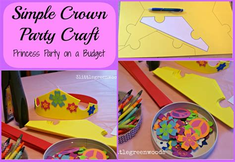 crown craft for simple princess favors
