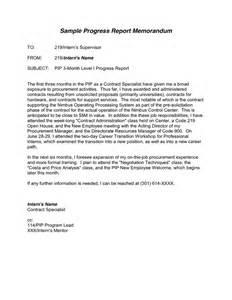 Memorandum Report Sample Progress Report Template Download Free Documents For Pdf