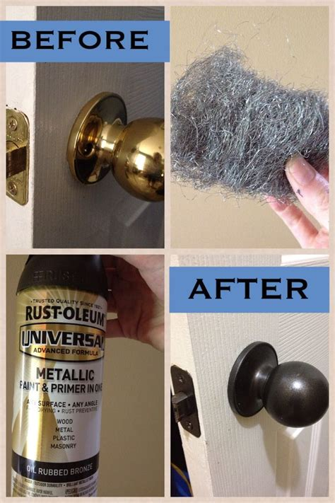 Spray Paint Door Knobs Without Removing by Best 25 Painting Metal Doors Ideas On Diy