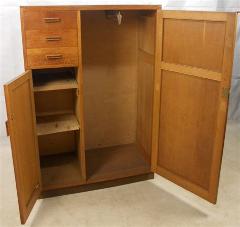 armoire cupboard compact light oak wood wardrobe storage cupboard sold